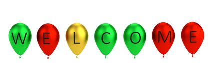 Balloon letters - welcome Stock Images