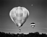 Balloon liftoff in Louisville, Kentucky Royalty Free Stock Images