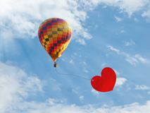 Balloon of love Stock Photos