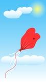 Balloon Love Deflate. Art Illustration Vector Stock Photo