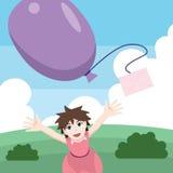 Balloon mail Royalty Free Stock Photo