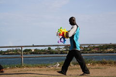 Balloon man. Mombasa. Royalty Free Stock Photo
