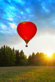 Balloon meadow sun Royalty Free Stock Photography