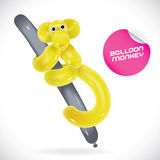 Balloon Monkey Illustration Royalty Free Stock Photography