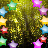 Balloon and mosaic party background Stock Photos