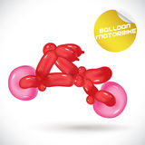 Balloon Motorbike Illustration Stock Image