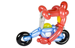 Balloon motorcycle and robot rider Stock Photos