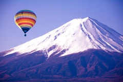 Balloon on mount fuji from japan Stock Image