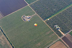 Balloon in Napa. Top view of Balloon in Napa royalty free stock images