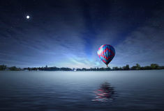 Balloon by night Stock Images