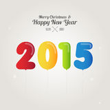 Balloon number on merry christmas and happy new year 2015 concep. T Stock Images