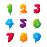 Balloon numbers vector set. Stock Photography