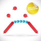 Balloon Nunchaku Illustration Royalty Free Stock Photography