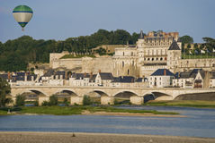 Balloon over Amboise City Stock Photos