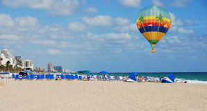 Balloon over the beach Royalty Free Stock Photo
