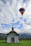 Balloon over the chapel Stock Photos