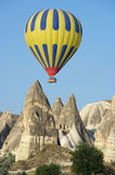 Balloon Over Fairy Chimneys Stock Images