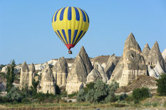 Balloon Over Fairy Chimneys Stock Image