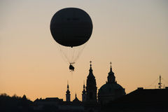 Balloon over Prague Royalty Free Stock Image