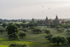 Balloon over The Temples of Bagan Royalty Free Stock Images