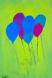 Balloon painting Stock Image