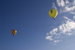 Balloon Pair. An image of a pair of hot air balloons Royalty Free Stock Photo