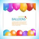 Balloon panel background] Stock Photos