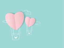 Balloon paper cut hearts Stock Image
