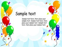 Balloon party background Stock Image