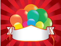Balloon party background with streamers Royalty Free Stock Image