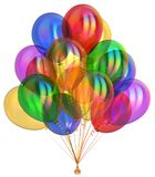 Balloon party birthday balloons bunch decoration colorful. Multicolored different. 3d illustration vector illustration
