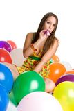 Balloon Party Girl Royalty Free Stock Photo