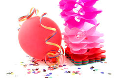 Balloon and party streamers Stock Image