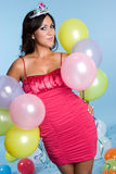 Balloon Party Woman Royalty Free Stock Photography