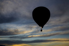 Balloon. Photo of balloon on the sky with clouds Royalty Free Stock Photo