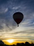 Balloon. Photo of balloon on the sky with clouds Royalty Free Stock Images