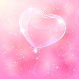 Balloon on pink background Royalty Free Stock Images