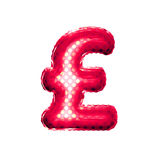 Balloon Pound currency symbol 3D golden foil realistic Stock Images