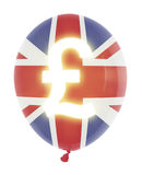 Balloon with pound symbol Royalty Free Stock Images