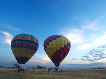 Balloon prepare to fly Royalty Free Stock Image
