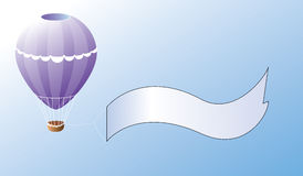 Balloon promotion. Illustration of a hot air publicity balloon stock illustration