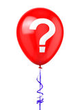Balloon with Question Mark Royalty Free Stock Photography