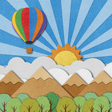 Balloon recycled paper background Stock Photography