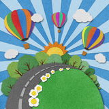 Balloon recycled paper background. Royalty Free Stock Image