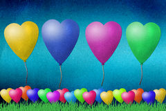 Balloon recycled paper craft. On paper background stock illustration