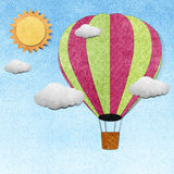Balloon recycled papercraft background Royalty Free Stock Images