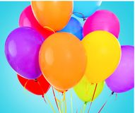 Balloon. Red baloon ballon bunch string white Royalty Free Stock Images