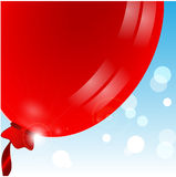 Balloon of red color Royalty Free Stock Image