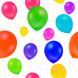 Balloon. Repeated backdrop of many multicoloured fly balloon, on white background, isolated stock illustration
