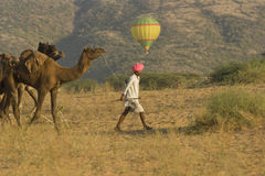 Balloon Ride in Rajasthan Stock Photo